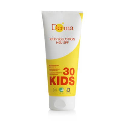 Test af Derma Kids Sollotion SPF 30 (200 ml)